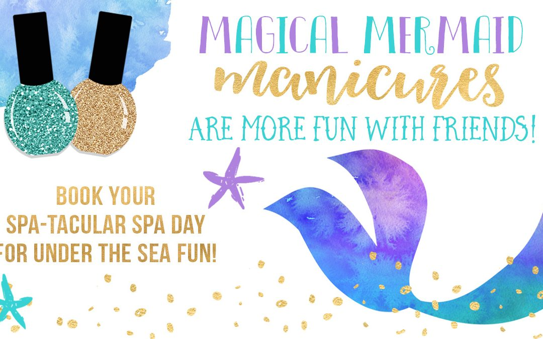 Mermaid Theme Spa Day for Girls