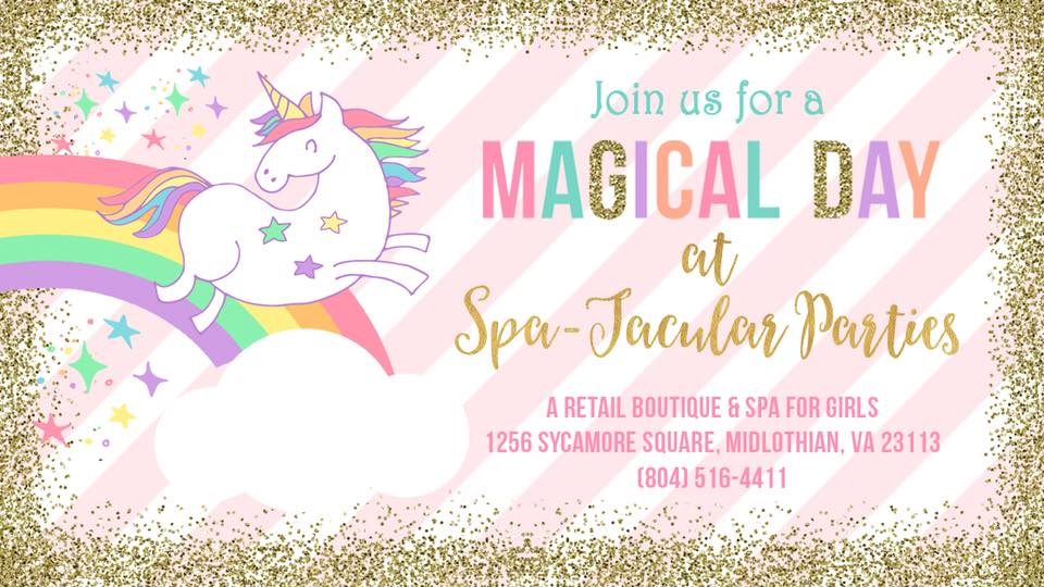 Magical Unicorn Spa Day