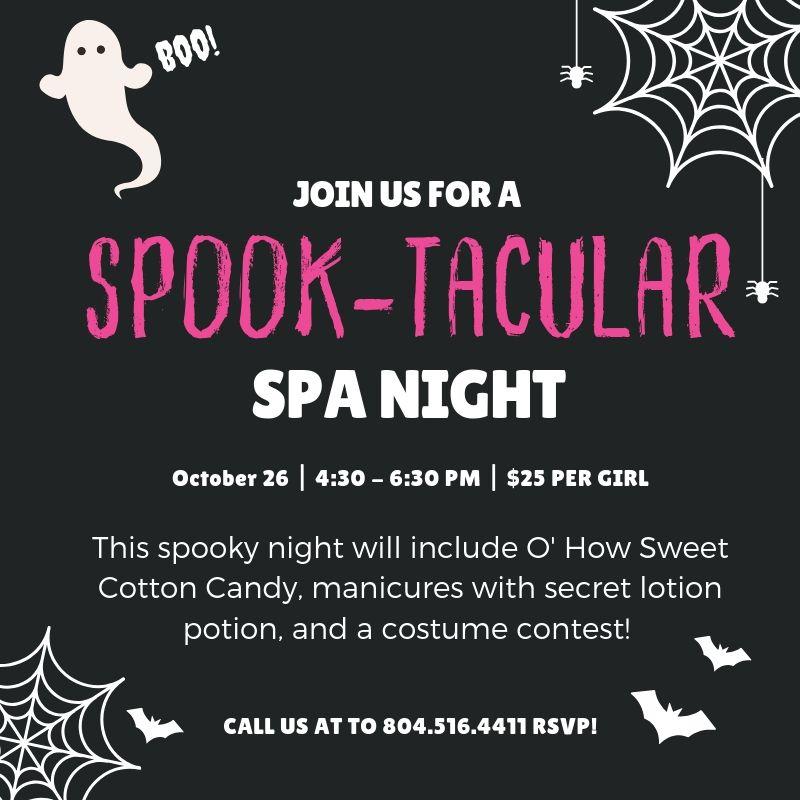 Spook-tacluar Halloween Event at Spa-Tacular Parties